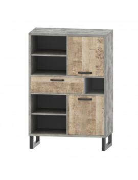 Bari bookcase REG2D1S