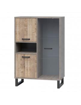Bari display cabinet 2D1W