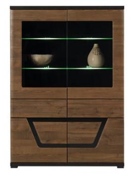 Tes display cabinet TS3 walnut