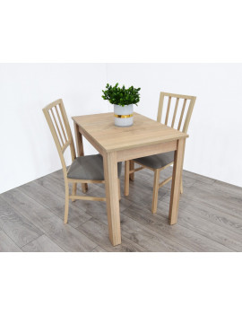 Miron extending dining table with 2 chairs MarP sonoma