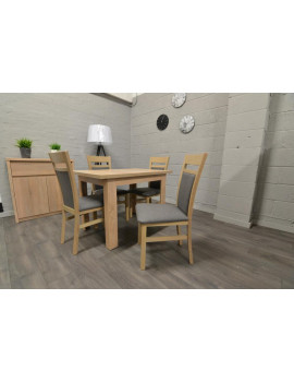 Set of extending table and 4 chairs