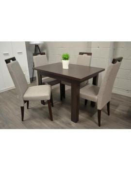 Zestaw stół rozkładany BRW i 4 krzesła Arte 2 w kolorze Wenge