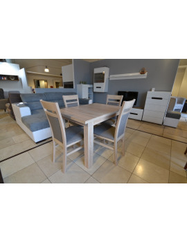 SET of BRW extending dining table and 4 chairs Kamil 2