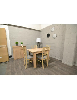 SET of BRW extending dining table and 4 chairs Marynarz