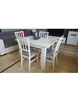 SET of extending dining table BRW and 4 chairs Sailor