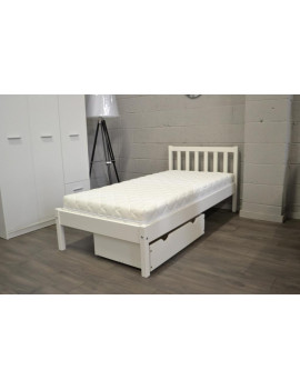 Berno bed with drawer white