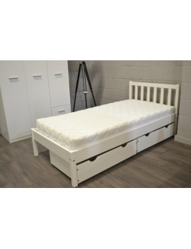 Berno bed with 2 drawers white