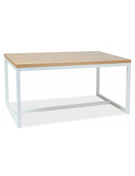 SG Loras solid oak table 150 white