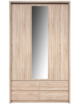 Norton wardrobe with mirror 3d4s