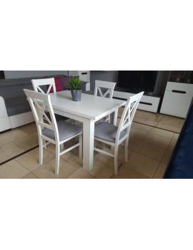Zestaw stół rozkładany i 4 krzesła