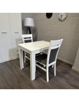 Miron extending dining table with 2 chairs Kam2