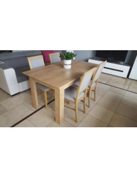 Zestaw stół BRW + 4 krzesła