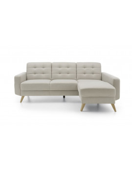 GALA COLLEZIONE corner settee Nappa with bed function in easy clean fabric