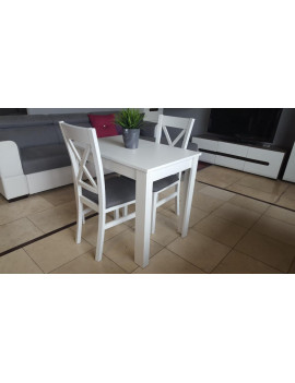 Miron extending dining table with 2 chairs Kam3