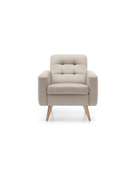 Nappa armchair