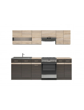 Junona kitchen units set 240cm