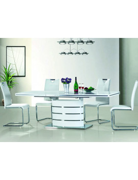 Set of Fano extending dining table 120 and 4 chairs