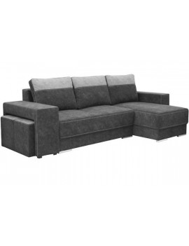 Universal corner sofa bed Larson with 2 pouffee