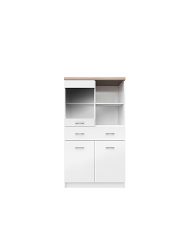 Top Mix display cabinet 2d1w1s/80 white