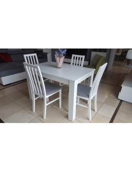 SET of BRW extending dining table and 4 chairs Ramen