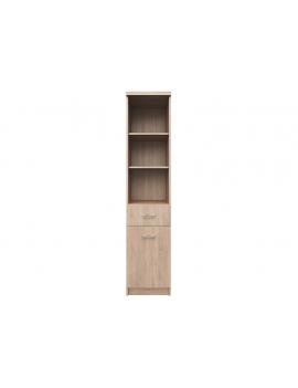 Top Mix bookcase 1d1s sonoma